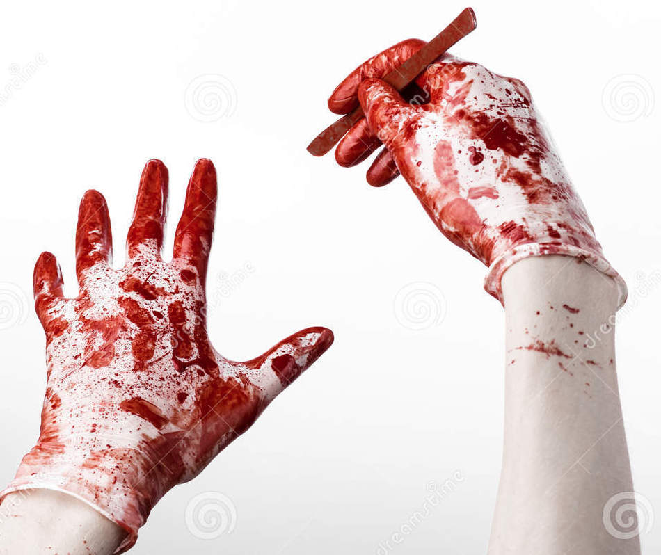 http://www.dreamstime.com/stock-photos-bloody-hands-gloves-scalpel-white-background-isolated-doctor-killer-maniac-studio-image44053163
